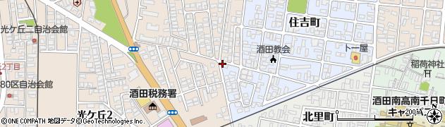 山形県酒田市住吉町20周辺の地図