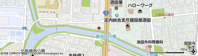 山形県酒田市下安町41周辺の地図