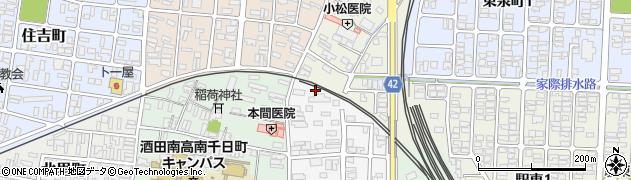 山形県酒田市御成町15周辺の地図