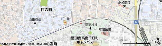 山形県酒田市南千日町13周辺の地図