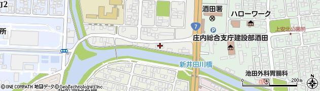 山形県酒田市下安町52周辺の地図
