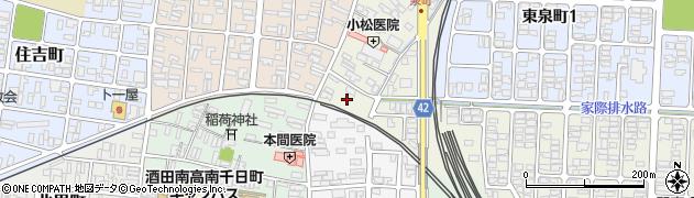 山形県酒田市泉町2周辺の地図