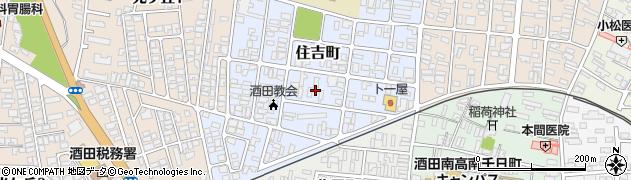 山形県酒田市住吉町13周辺の地図