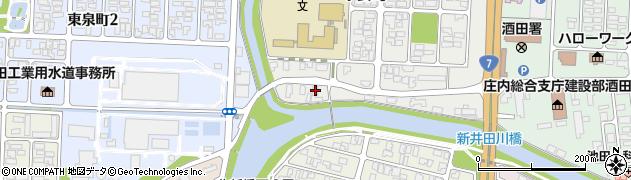 山形県酒田市下安町117周辺の地図