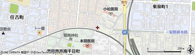 山形県酒田市泉町2-11周辺の地図