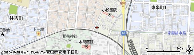 山形県酒田市泉町2-12周辺の地図