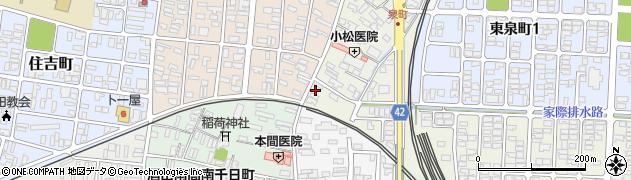 山形県酒田市泉町2-13周辺の地図