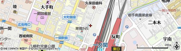 岩手県一関市上大槻街周辺の地図