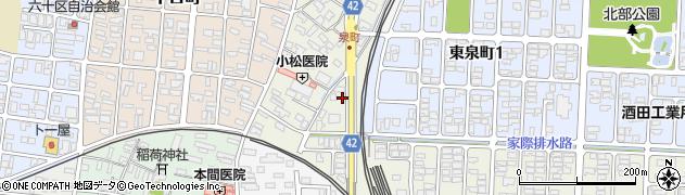 山形県酒田市泉町4周辺の地図