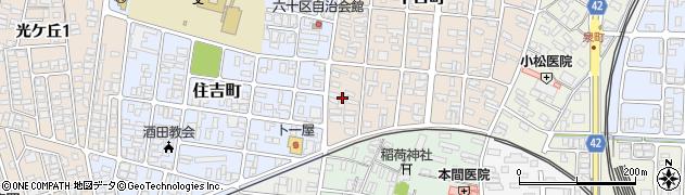 山形県酒田市千日町19周辺の地図