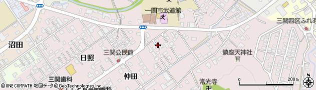 岩手県一関市三関周辺の地図