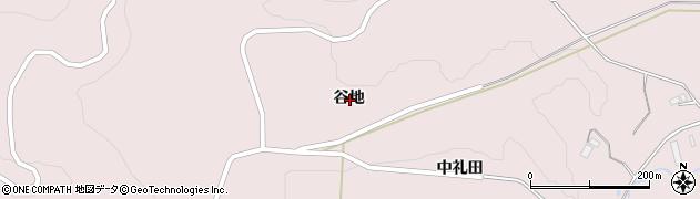 岩手県一関市千厩町磐清水谷地周辺の地図