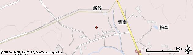 岩手県一関市千厩町磐清水新谷周辺の地図