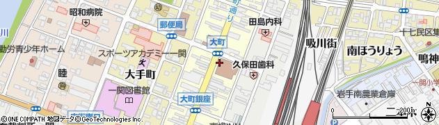 岩手県一関市大町周辺の地図