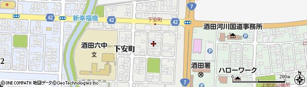 山形県酒田市下安町7周辺の地図