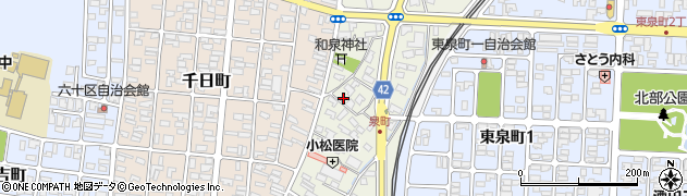 山形県酒田市泉町周辺の地図