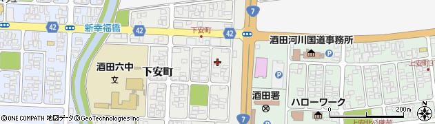 山形県酒田市下安町6周辺の地図