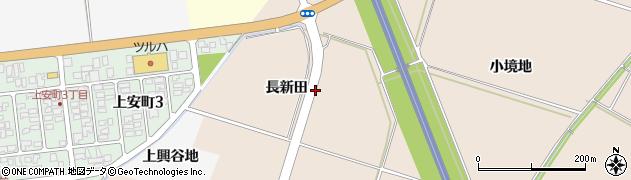 山形県酒田市中野曽根(長新田)周辺の地図