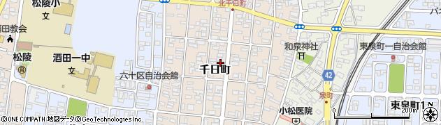 山形県酒田市千日町13-25周辺の地図