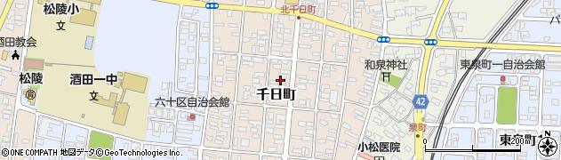山形県酒田市千日町13-24周辺の地図