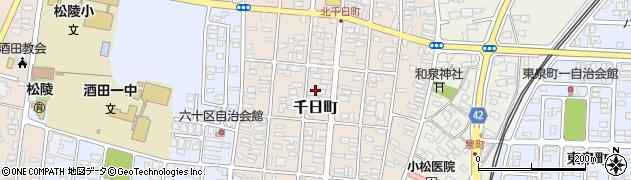 山形県酒田市千日町13周辺の地図