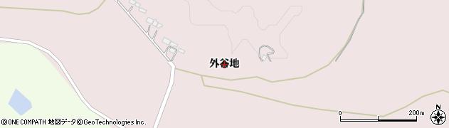 岩手県一関市厳美町(外谷地)周辺の地図