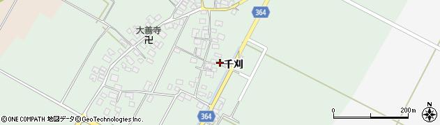山形県酒田市漆曽根千刈27周辺の地図