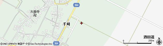 山形県酒田市漆曽根(千刈)周辺の地図