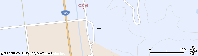 山形県酒田市北沢仁枚田32周辺の地図