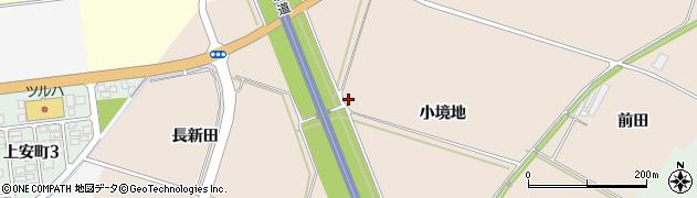 山形県酒田市中野曽根小境地周辺の地図