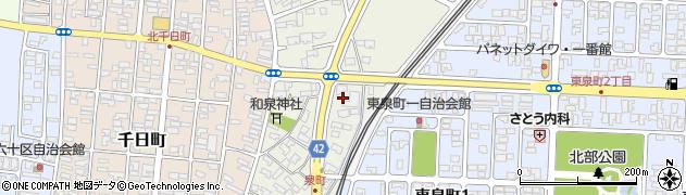 山形県酒田市泉町8周辺の地図