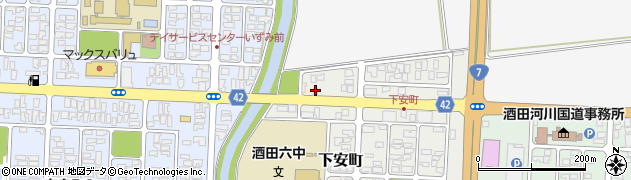 山形県酒田市下安町18-15周辺の地図
