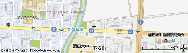 山形県酒田市下安町18周辺の地図