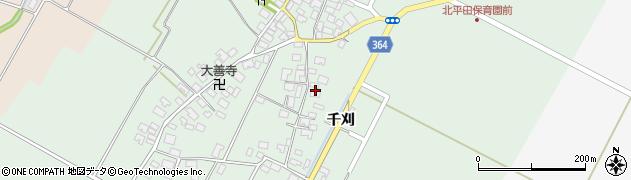 山形県酒田市漆曽根四合田22周辺の地図