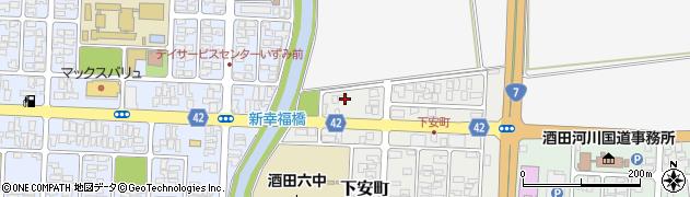 山形県酒田市下安町18-4周辺の地図