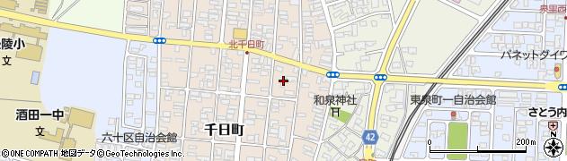 山形県酒田市千日町6周辺の地図