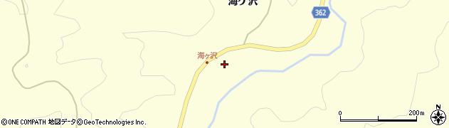 山形県酒田市北俣海ケ沢58周辺の地図