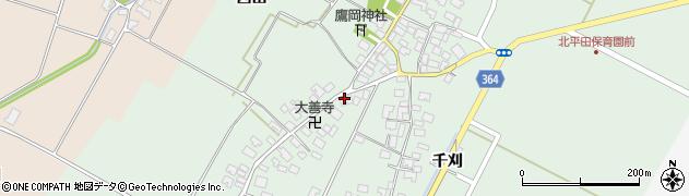 山形県酒田市漆曽根四合田132周辺の地図
