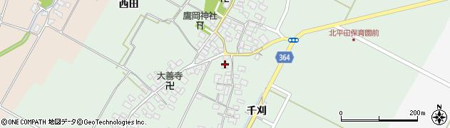 山形県酒田市漆曽根四合田48周辺の地図