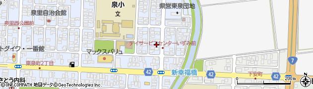 山形県酒田市東泉町4丁目周辺の地図