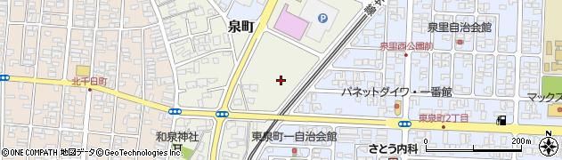 山形県酒田市泉町123周辺の地図