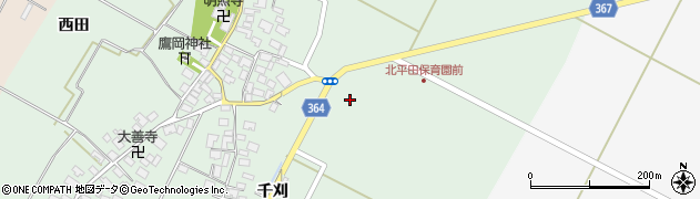 山形県酒田市漆曽根千刈26周辺の地図