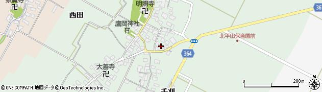 山形県酒田市漆曽根腰廻16周辺の地図