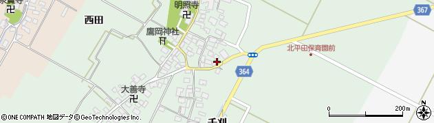 山形県酒田市漆曽根腰廻17周辺の地図