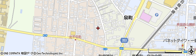 山形県酒田市北千日町1周辺の地図