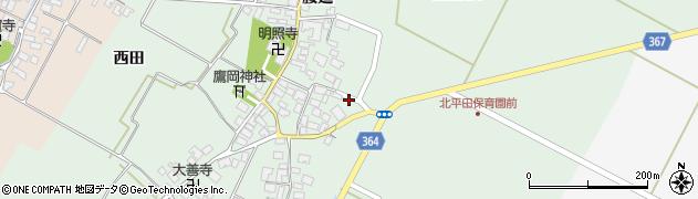 山形県酒田市漆曽根腰廻22周辺の地図