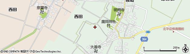 山形県酒田市漆曽根腰廻295周辺の地図