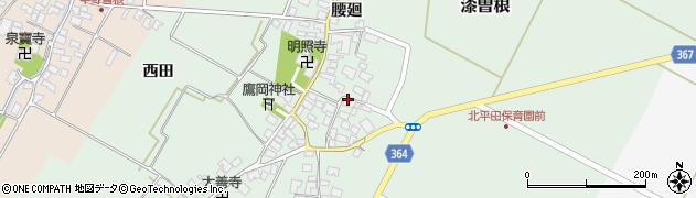 山形県酒田市漆曽根腰廻20周辺の地図