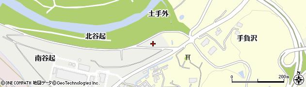 岩手県一関市中里(北谷起)周辺の地図