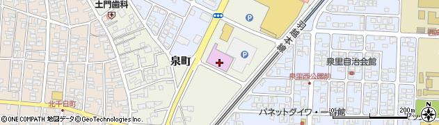 山形県酒田市泉町124周辺の地図
